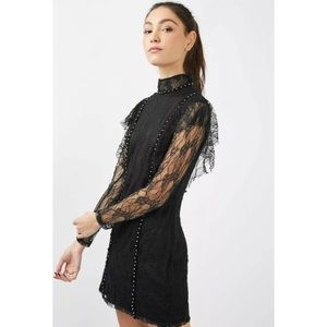 NWT Topshop Gothic Ruffle Lace Dress